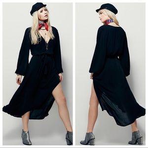 FREE PEOPLE | Black Long Sleeve Maxi Dress
